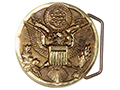 Solid Brass US Government Eagle Buckle