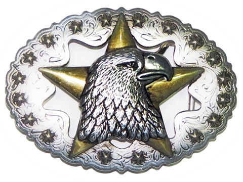 Lone Star and Eagle Head Buckle