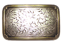 Western Engraved Rectangle Buckle