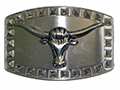 Steer Head and Diamonds Buckle