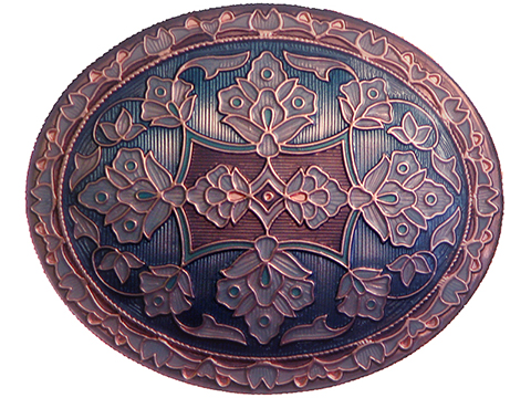Copper and Enamel Inlay Buckle