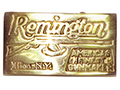 Solid Brass Remington Firearms Buckle
