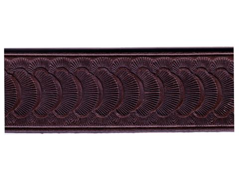 Belt Blank with Scallop Pattern Embossing