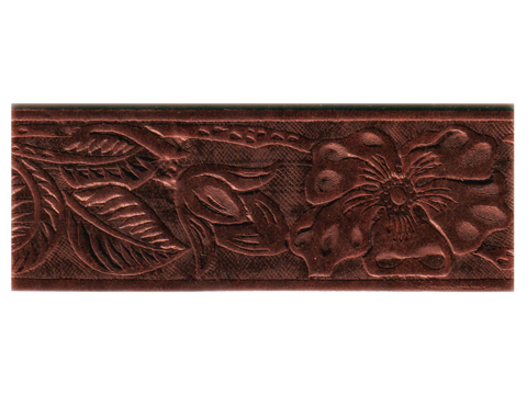 Belt Blank with Western Rose Pattern Embossing