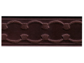 Belt Blank with Scallop and Crown Pattern Embossing