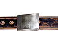 38mm Belt with Army Buckle on Aged Leather