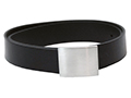 30mm Belt with Small Military Style Brushed Nickel Buckle on Plain Leather