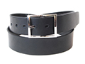 40~mm Belt with Rectangular Double Buckle on Plain Leather