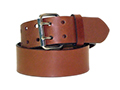 50mm Heavy Duty Belt with Roller Buckle and Leather Keeper on Plain Leather