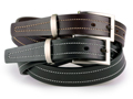 30mm Belt with a Feathered Edge Strap and Brushed Black Nickel buckle