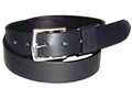 32mm Belt Stirrup Buckle and Leather Keeper on Plain Leather