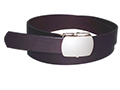 30mm Belt with Army Type Slide-Lock Buckle on Porvair Leather