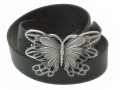 38mm Belt with Butterfly Belt Buckle on Plain Leather