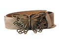 38mm Belt with Butterfly Belt Buckle on Suede Leather