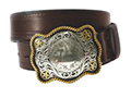 38mm Belt with Old Texas Trophy Buckle on Embossed Leather