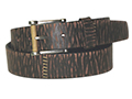 38mm Belt with Covered Buckle and Leather Keeper on Aged Distressed Leather