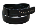 38mm Belt with Roller Buckle and Leather Keeper on Decorated Leather