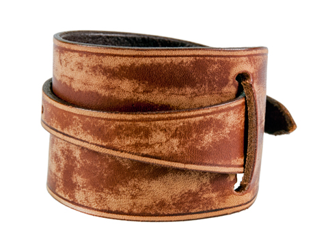 Wrangler Wristband with Aged Leather